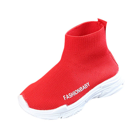 MUQGEW Kids Toddler Infant Mesh Solid Ankle Sneakers
