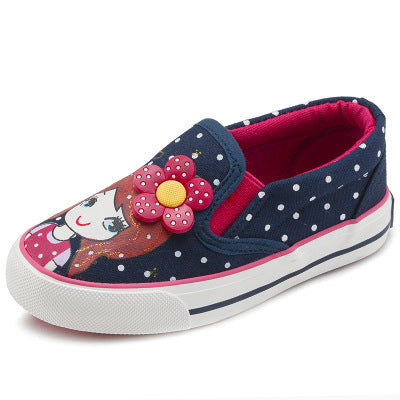 New Autumn Children Flats Polka Dot Fashion Kids Shoes