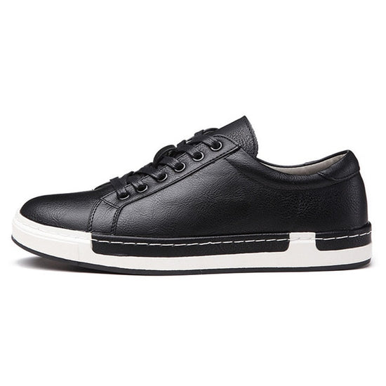 Luxury Lace Up Flats Male Casual Shoes