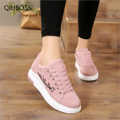QIUBOSS Vulcanize Fashion Shoes For women 2019
