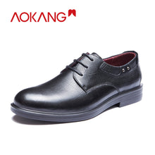 AOKANG men dress shoes with genuine leather