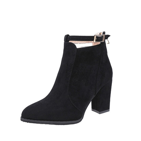 High Heels Pumps Warm Ankle boots