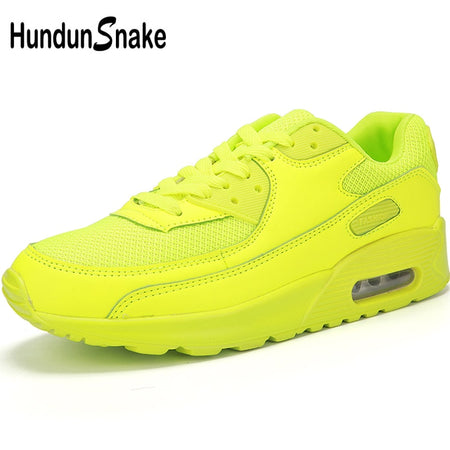 Hundunsnake Yellow Sneakers Male Air Cushion Men Running Shoes Sports Sneakers Sport Shoes Men 2019 Jogging Krasovki T205