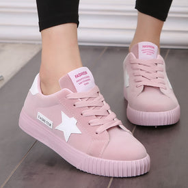 New Women Sneakers Round Toe Female Shoes 2019
