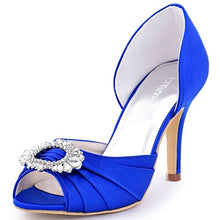 Two Piece Satin Evening Prom Wedding Bridal Shoes
