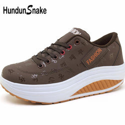 Sport Women Pu Leather Rocking Shoes
