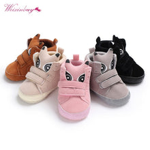 Cheap Infant Shoes Boy Girl Sneakers Animal Shaped Warm High-top Soft Sole Toddler Shoes Mocassins First Walkers