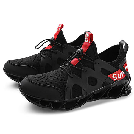 SUROM Breathable Walking Sneakers Shoes Men's