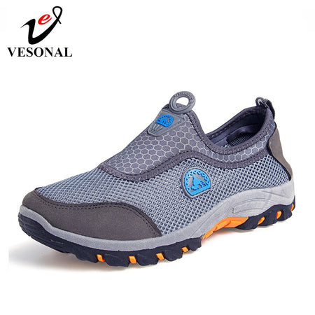 VESONAL 2019 Summer Slip-On Mesh Sneakers Men Shoes