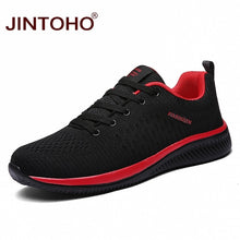 JINTOHO Brand Men Fashion Casual Men Shoes Cheap Men Sneakers Red/Black Breathable Shoes 2019 Male Sneakers Zapatillas Hombre