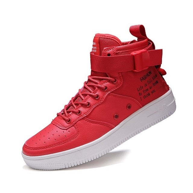7560ce8c4f Casual Shoes Men Autumn 2019 Footwear Men's White Red Sneakers army ...