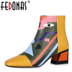 FEDONAS Fashion Brand Women Ankle Snow Boots
