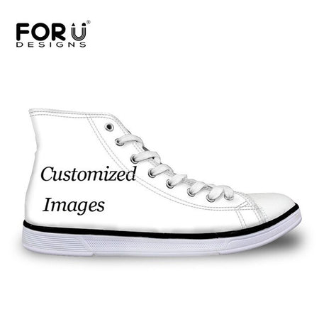 FORUDESIGNS Women Sneakers Purple Lilac 3D Printing Casual Shoes Woman Comfortable Breathable Canvas High top Zapatos de mujer