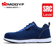 MODYF Lightweight Steel Toe Breathable Safety Blue and Black Sneakers For Men