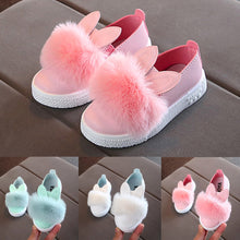 Children shoes kids sneakers Toddler Baby Fur Sneaker Girls 2019 Cute Bunny Soft Anti-slip Single Shoes Chaussures pour enfants