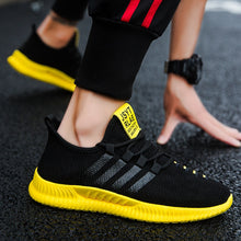 2019 New Sneakers Yellow Mesh Brand Running Sneakers For Men Breathable Light Jogging Sport Zapatillas Outdoor Walking Shoes