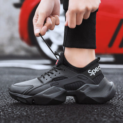 Breathable Mens Shoes Casual Fashion Tennis Trainers Chunky Sneakers