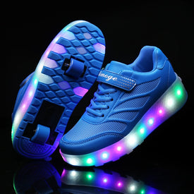 Two Wheels Sneakers LED Light up Shoes