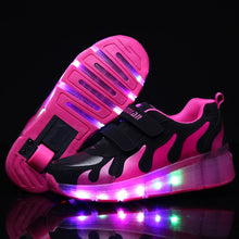 Children Glowing Sneakers Kids Roller Skate Shoes
