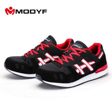 MODYF Mens Steel Toe Safety Work Black and Blue Sneakers Men Lightweight Breathable Outdoor Shoes Non-slip Rubber Construction Protective sneakers