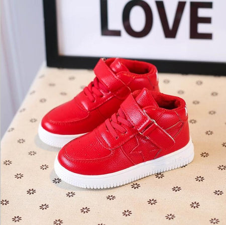 New Red Sneakers For Boy Autumn Winter Kids Running Sport Shoes