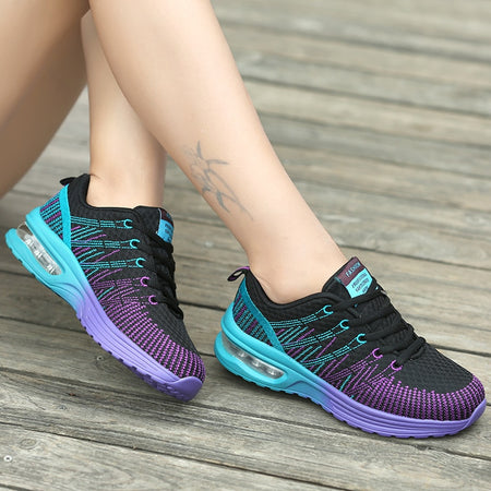 2020 Summer Fashion Korean Flying Women Sneakers Purple Breathable Air Lace Up Casual Sneakers Woman Basket Femme Tenis Feminino