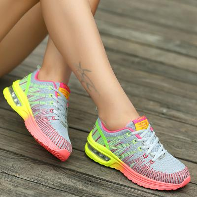 2019 Summer Fashion Korean Flying Women Sneakers Purple Breathable Air Lace Up Casual Sneakers Woman Basket Femme Tenis Feminino