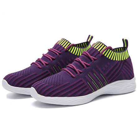 2019 Platform Sock Women Purple Sneakers Mesh Vulcanized Shoes Tenis Trainers Colorful Casual Sneakers CY062