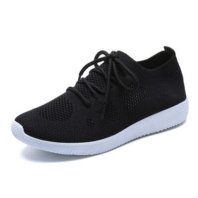 2020 Mesh Air Women Sneakers Lightweight breathable Pink/Grey/Black Casual Shoes for Women Flat lace up Casual Shoe 6J09