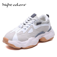 Harajuku Street Casual Shoes Women Chunky Sneakers Fashion Dad Shoes For Women Spring Autumn White Grey Vulcanize Shoes