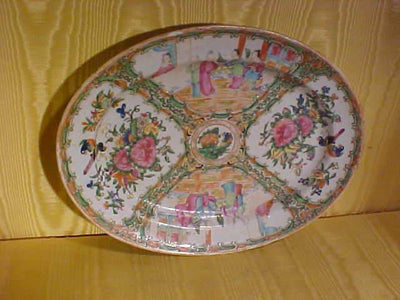 19th Century Export Porcelain Rose Medallion Platter Salisbury & Manus
