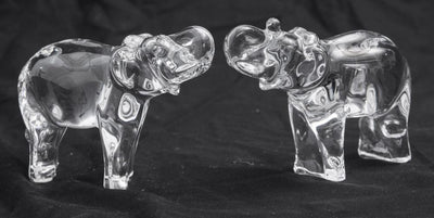 Baccarat Elephant Crystal Sculptures