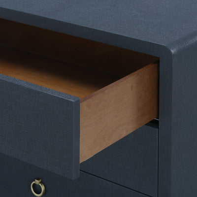 BRYANT 30 INCH- 3-DRAWER SIDE TABLE, NAVY BLUE - Salisbury & Manus