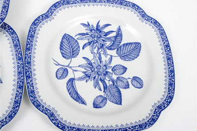 COLLECTION OF Vintage TWELVE SPODE BLUE ROOM COLLECTION FLOWER PLATES - Salisbury & Manus