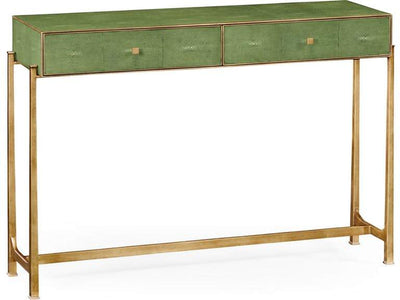 GREEN SHAGREEN GILDED CONSOLE TABLE - Salisbury & Manus
