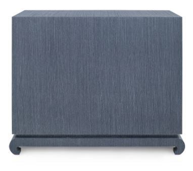MING 40.5 INCH - 4-DRAWER LARGE CHEST, NAVY BLUE - Salisbury & Manus