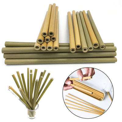 Bamboo Reusable Straw Kit Couthier 3 X ( 1Straw + 1 Case + 1 Brush ) 20% OFF