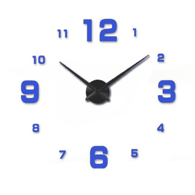 3D Wallclock oupseven Blue 37 inches