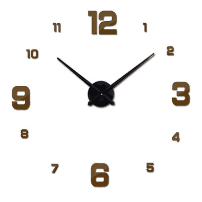 3D Wallclock oupseven Brown 37 inches