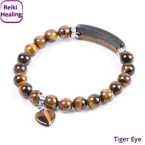 Tiger Eye Heart Bracelet
