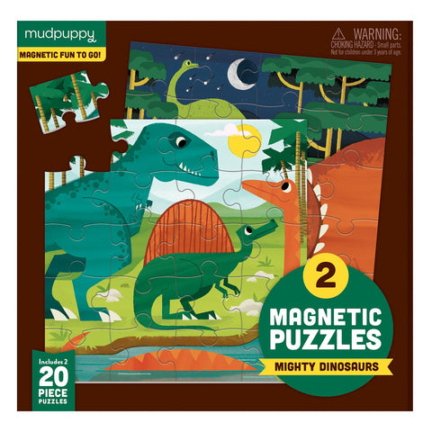 Mudpuppy Mighty Dinosaurs Magnetic Fun