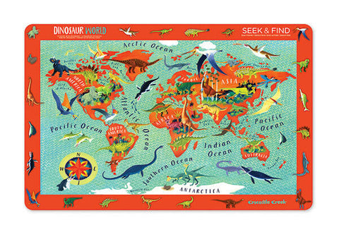 Crocodile Creek Dinosaur World Placemat