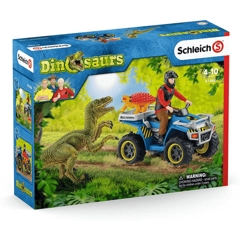 Schleich Quad Escape from Velociraptor Playset