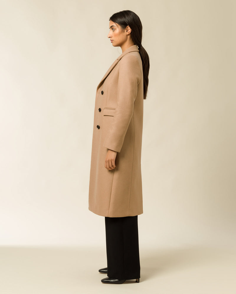 Classic Double Breasted Coat Camel