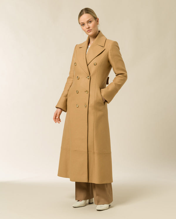 Double Breasted Coat Winter Camel