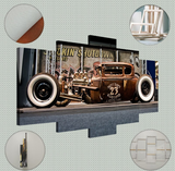 canvas hot rod voiture ancienne