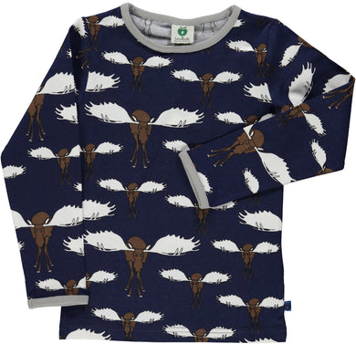 Moose Blue Long-sleeved Top