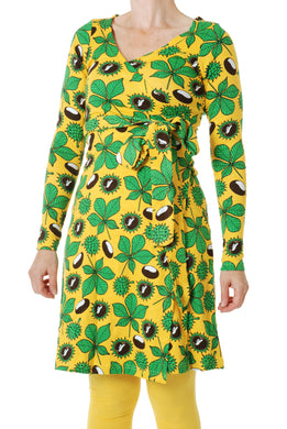 ADULT Chestnut Yellow Wrap Dress