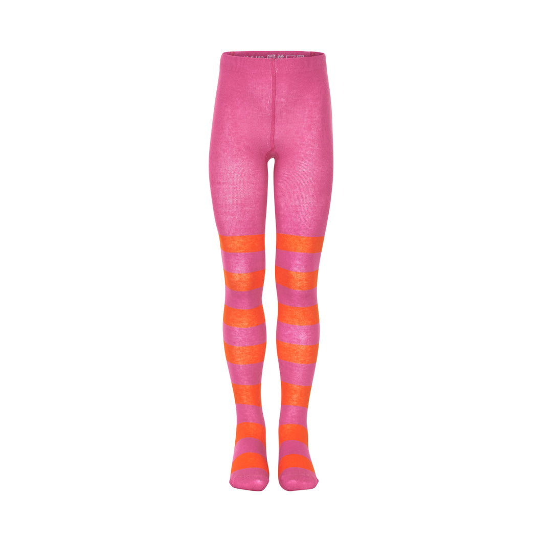 Pink and Orange Stripy Tights
