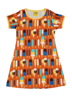 Ice Cream Pumpkin Short Sleeved A-Line Dress